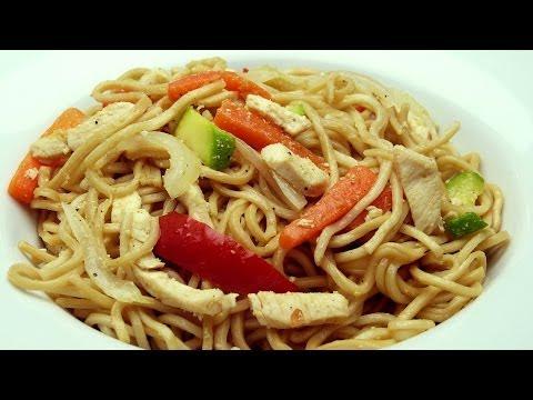 Tavuklu Noodle Tarifi | Sebzeli Çin Yemeği Yapımı