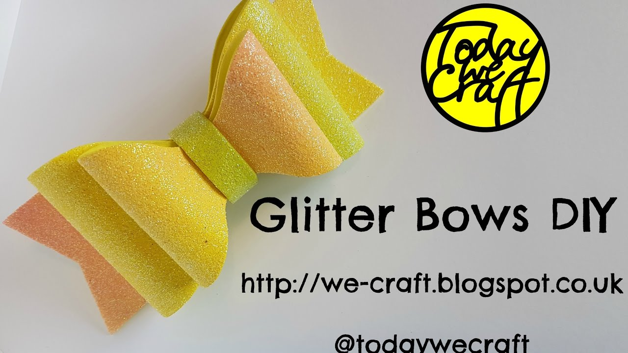 How to make glitter hair bows full diy youtube how to make glitter hair bows full diy solutioingenieria Images