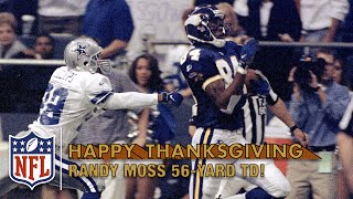 Randy Moss Burns the Cowboys with a 56-Yard Catch-'n-Run TD (1998) | NFL on Thanksgiving