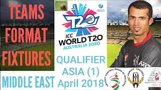 ICC World T20 Qualifier 2018 Asia Format Teams | ICC WT20 2018 Matches Schedule Venue ( English )
