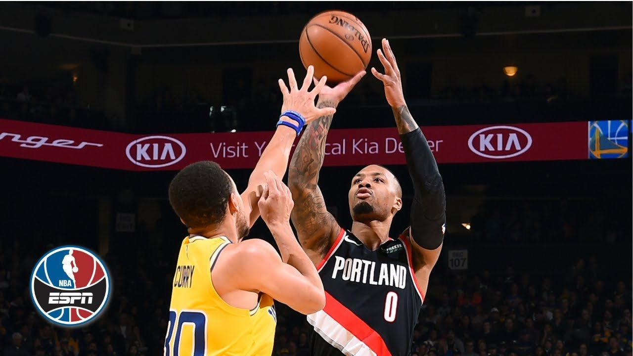 c523fadc18cd Damian Lillard hits game winner in Blazers  thrilling OT win vs. Warriors