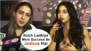 sara ali khan openly speaks about jhanvi kapoor getting jealous of her popularity at iifa awards