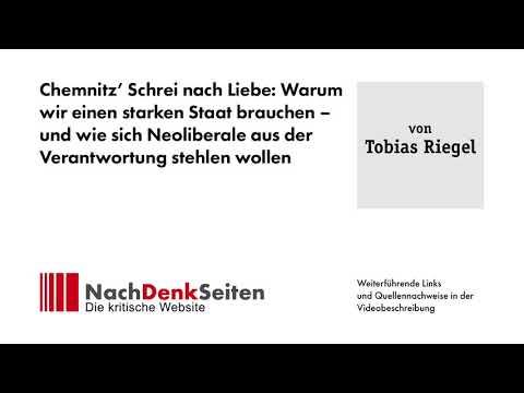 Chemnitz' Schrei Nach Liebe: Warum Wir Einen Starken Staat Brauchen