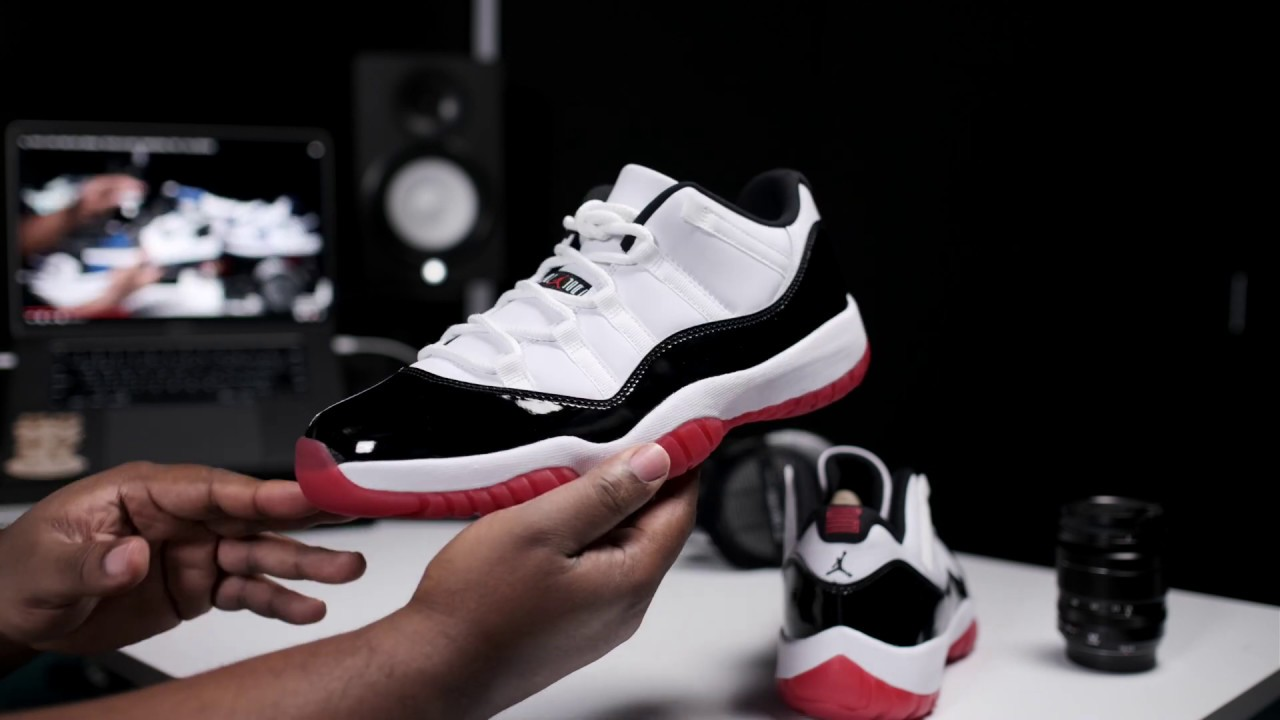Chicago Bred Concord Retro Early Look Air Jordan 11 Low Bulls