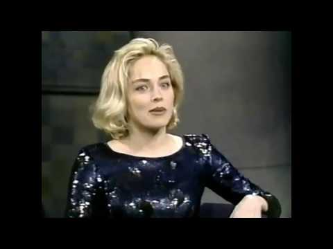 Amazing Sharon Stone - 4 out of 7 times with David Letterman