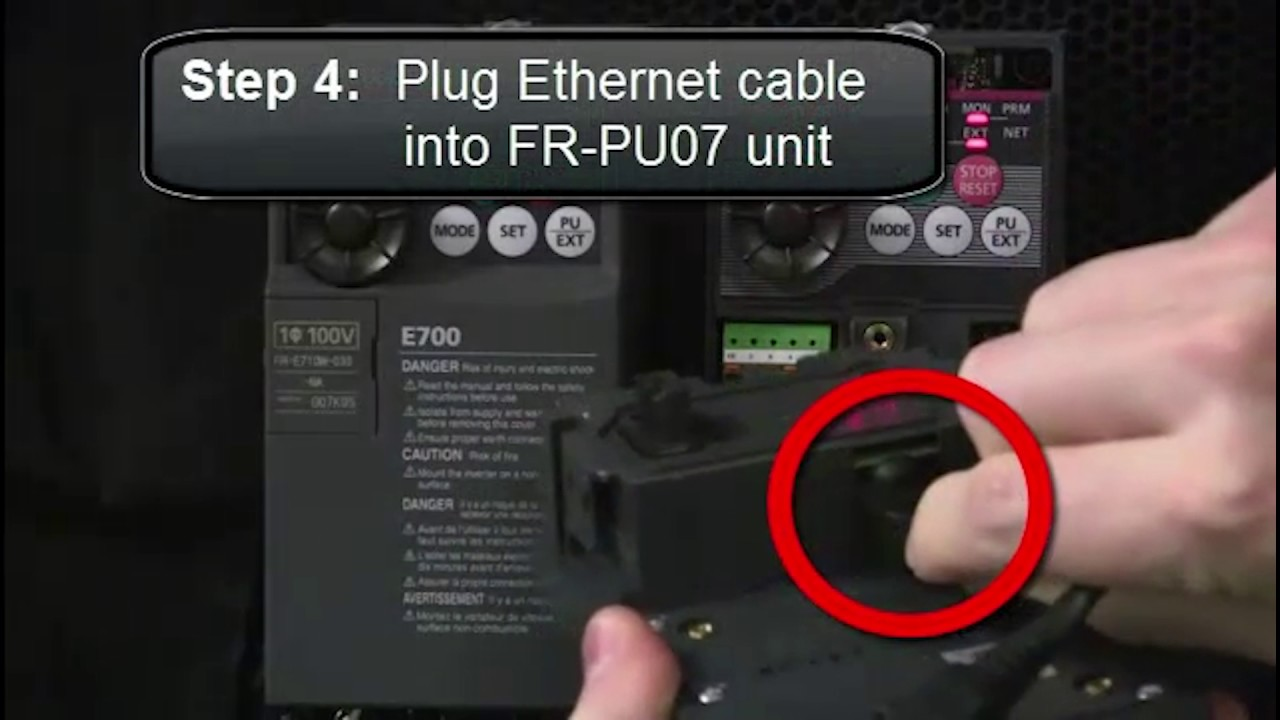 Mitsubishi Quick Tips: FR-PU07 Connection to FR-D700