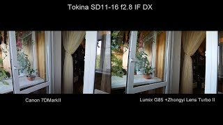 Lumix G85 +Zhongyi Lens Turbo II Vs Canon 7DMarkII