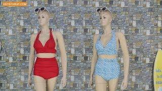 Open red two piece swimwear sexy women bathing suit in beach party STP0005
