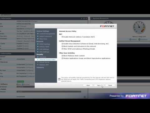 FortiGate Quick Start Guide ( Wizard Configuration ) - YouTube