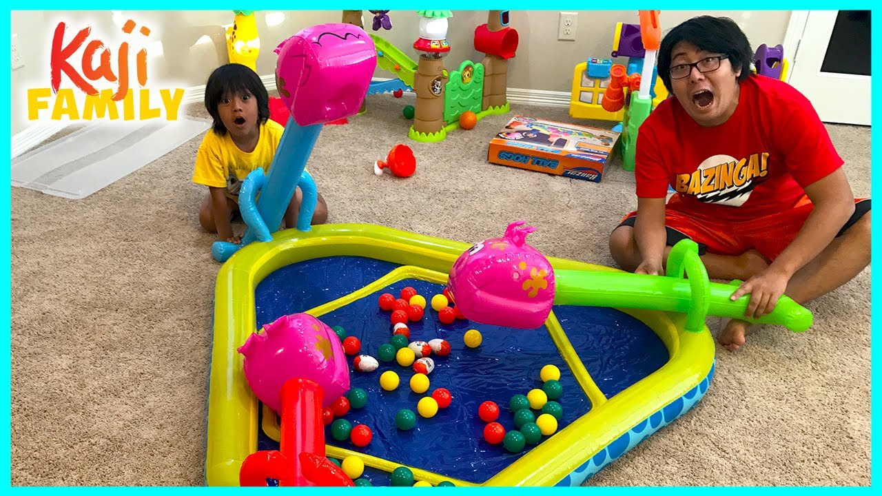 Kids Inflatable Toy Hungry Hungry Hippo and more fun games!!!