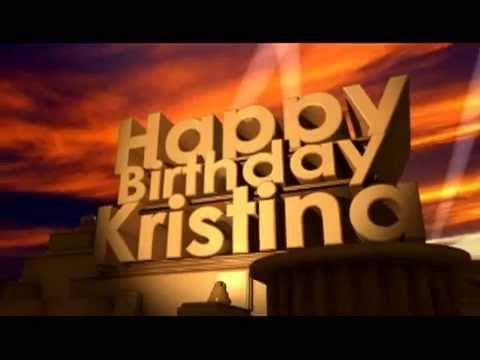 happy birthday kristina Happy Birthday Kristina   YouTube happy birthday kristina