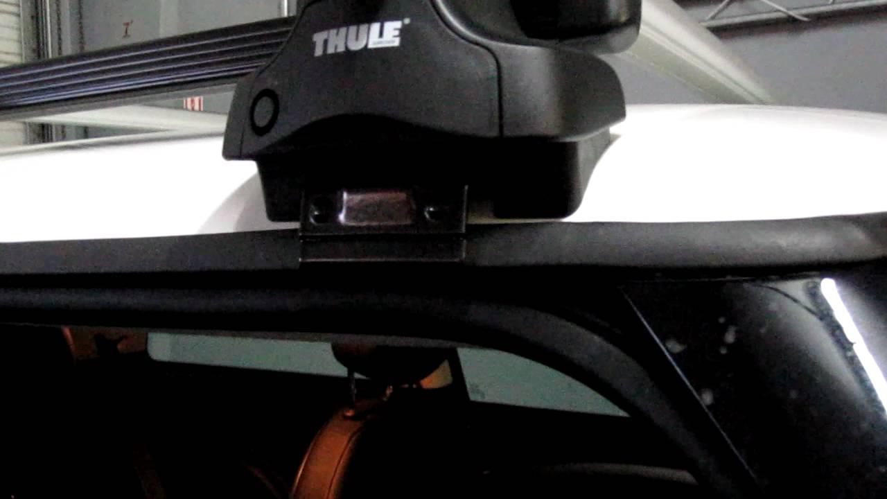 Mini Cooper With Thule Rapid Traverse Aeroblade Sra Roof