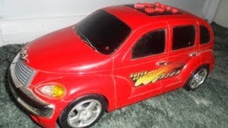 RED CHRYSLER CRUISER TOY WITH CAR ALARM FUNCTION MUSIC DANCE TRACKS POWERED DICKIE TOYS