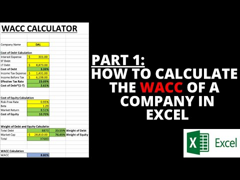 PART 1: How To Calculate The WACC Of A Company In Excel