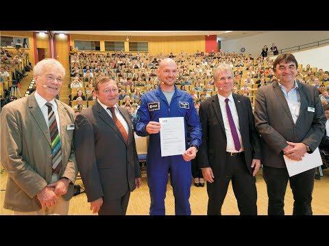 Verleihung der Ehrenpromotion an Alexander Gerst