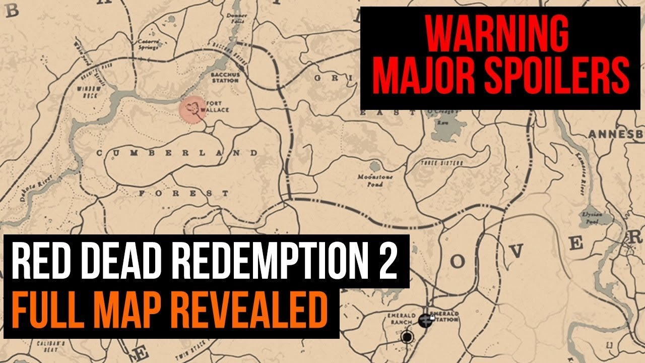 Rdr2 Karte Pdf.Red Dead Redemption 2 Full In Game Map