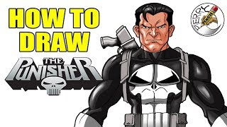 How to draw The Punisher