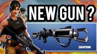 FORTNITE NEW SECRET SNIPER GUN? - Fortnite Zapatron Removed Content/ Cut Content