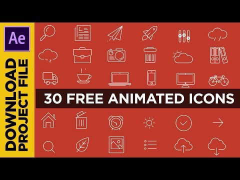 FREE 30 ANIMATED ICONS #1 | DOWNLOAD AFTER EFFECTS PROJECT FILE (No Third Party Plugin)