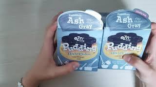 푸딩 염색약 -애쉬그레이 언박싱