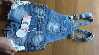 видео Женские комбинезоны джинсовые