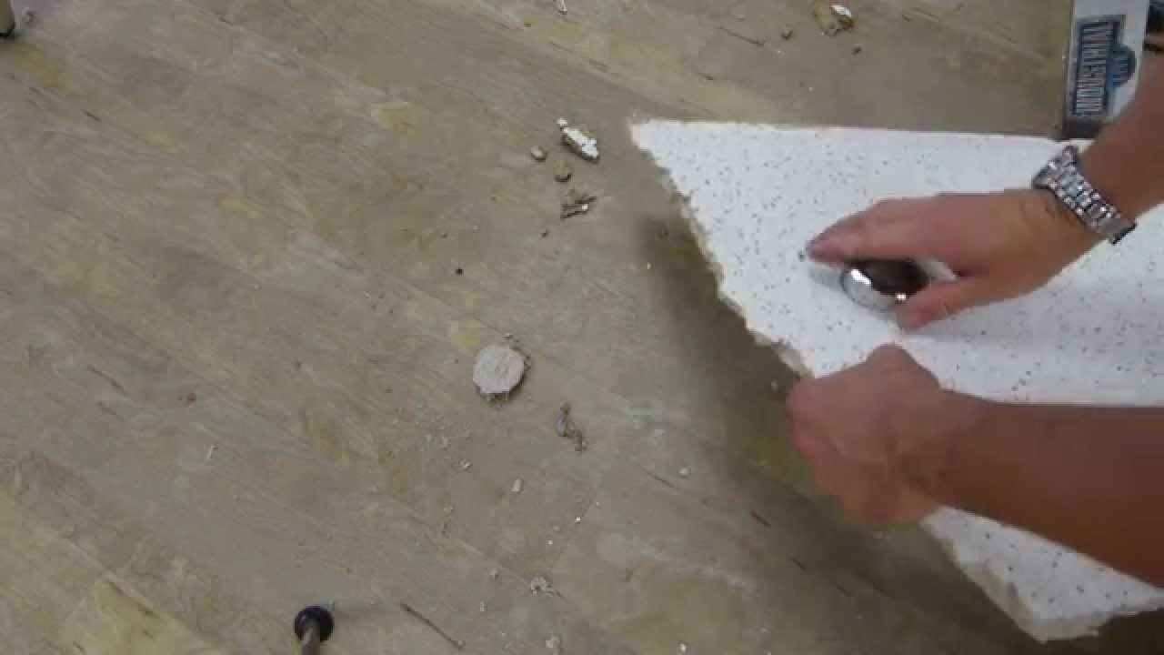 Ceiling tile hole cutting tricks - YouTube