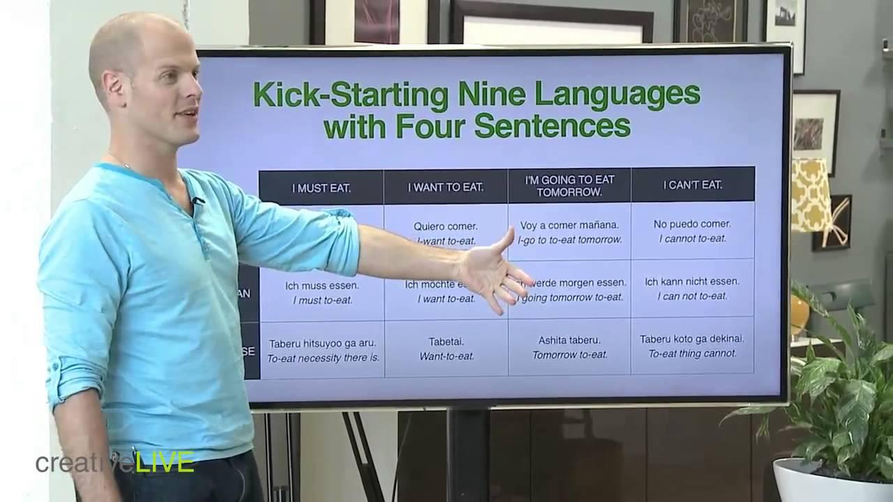 Tim ferriss languages