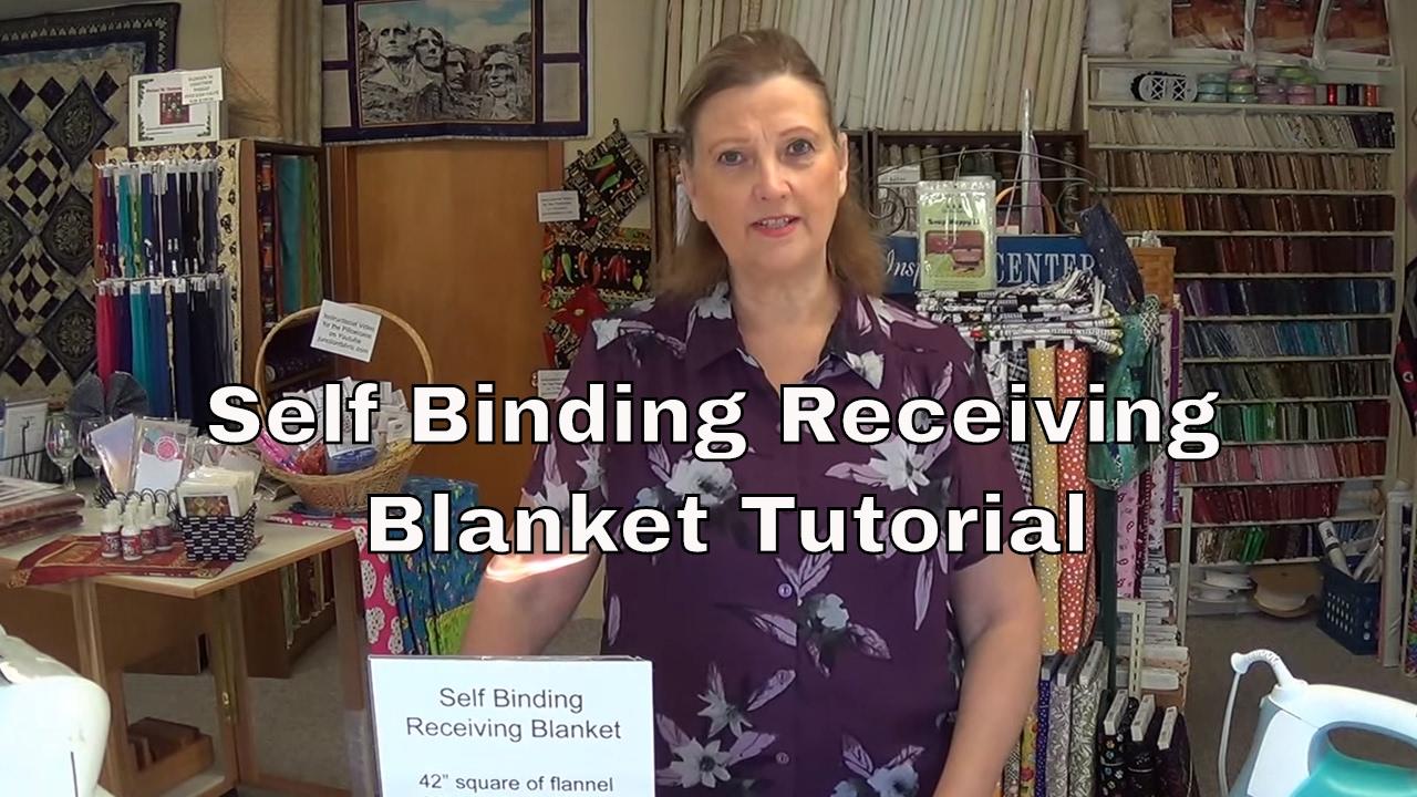 How To Make A Self Binding Receiving Blanket Doovi