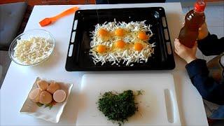 Быстрая закуска из яиц и сыра