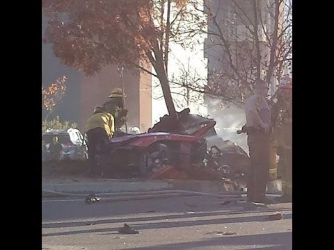 *REAL SCENE* Paul Walker Car Crash Video - Seconds after the crash - Paul Walker's Death
