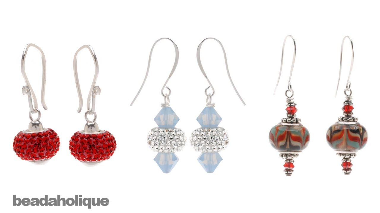 How to Make Earrings Using European Style Large Hole Beads ...