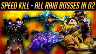 DESTINY 2 ALL RAID BOSSES KILLED AS FAST AS POSSIBLE