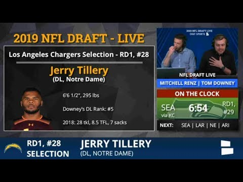 2019 NFL Draft: Los Angeles Chargers Pick Jerry Tillery From Notre Dame With Pick #28 In 1st Round