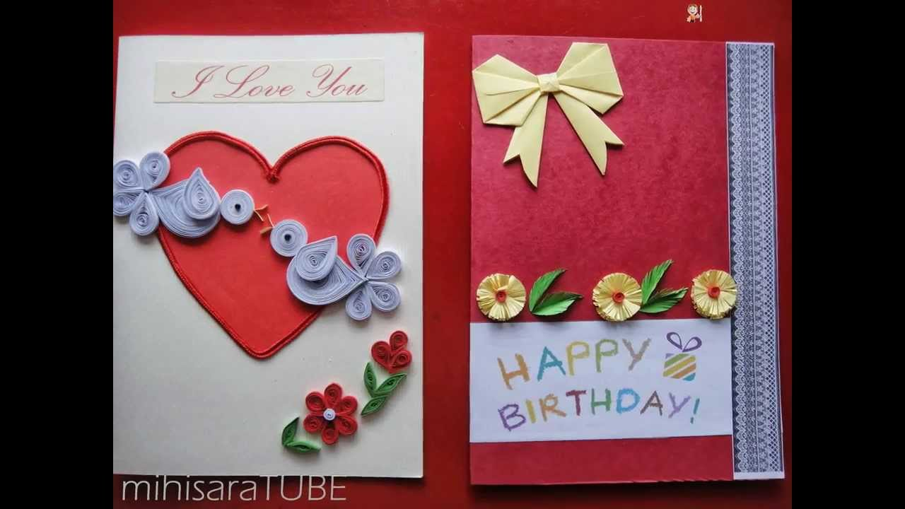 Homemade greeting cards youtube m4hsunfo