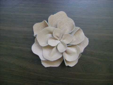 Diy flower from a leather youtube for Leather flowers for crafts