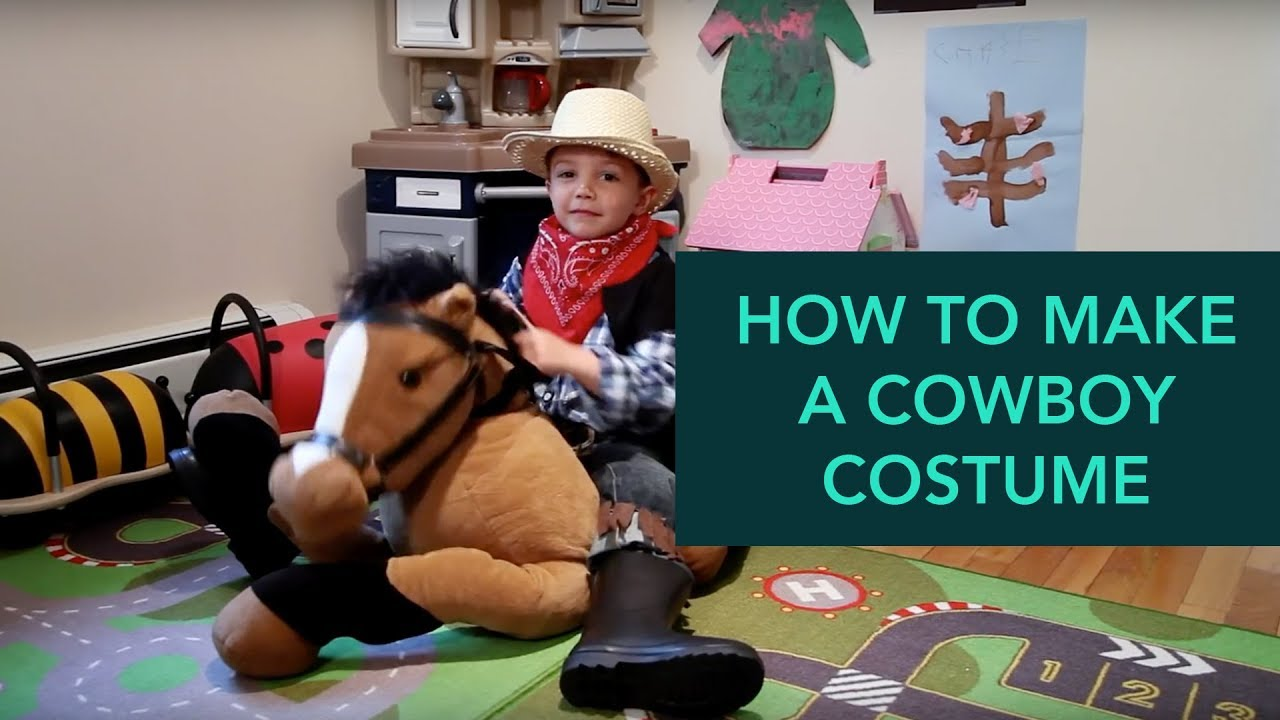 How to Make a Cowboy Costume - Easy DIY Halloween | Care.com  sc 1 st  YouTube : cowgirl costume ideas for kids  - Germanpascual.Com