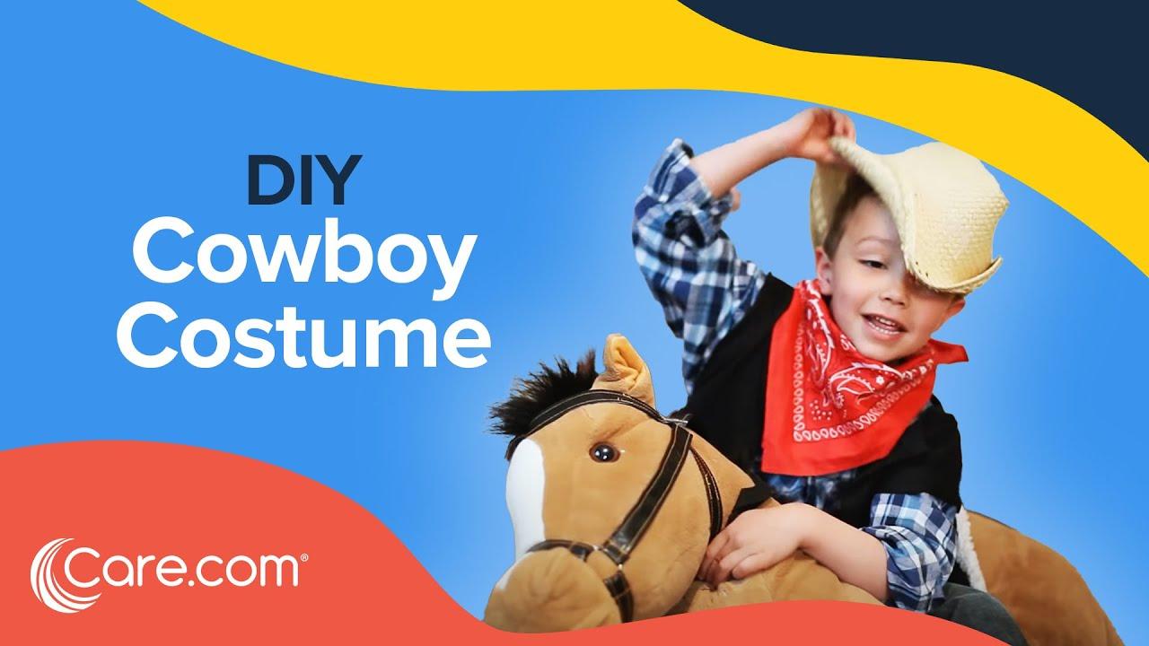 How to Make a Cowboy Costume - Easy DIY Halloween | Care.com  sc 1 st  YouTube & How to Make a Cowboy Costume - Easy DIY Halloween | Care.com - YouTube