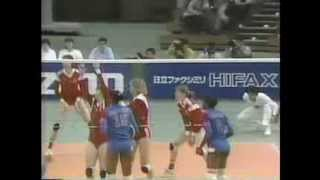1989 WC Women`s Volleyball USSR vs China & Cuba vs East Germany (edited)