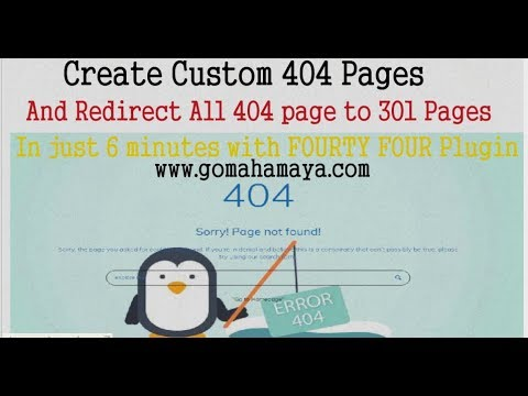 How to Create Custom 404 Page and Redirect 404 page to 301 page in  WordPress Website