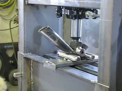 Homemade Hydraulic Steel Press Youtube