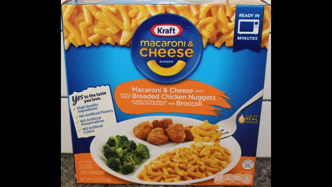 Kraft Macaroni & Cheese Dinner: Macaroni & Cheese with Breaded Chicken Nuggets & Broccoli Review