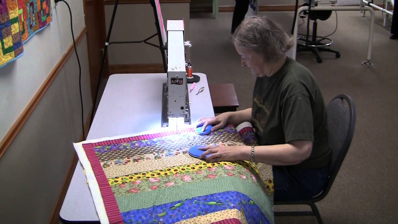 Longarm quilting with an APQS George longarm quilting machine ... : george quilting machine - Adamdwight.com