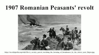 1907 Romanian Peasants' revolt