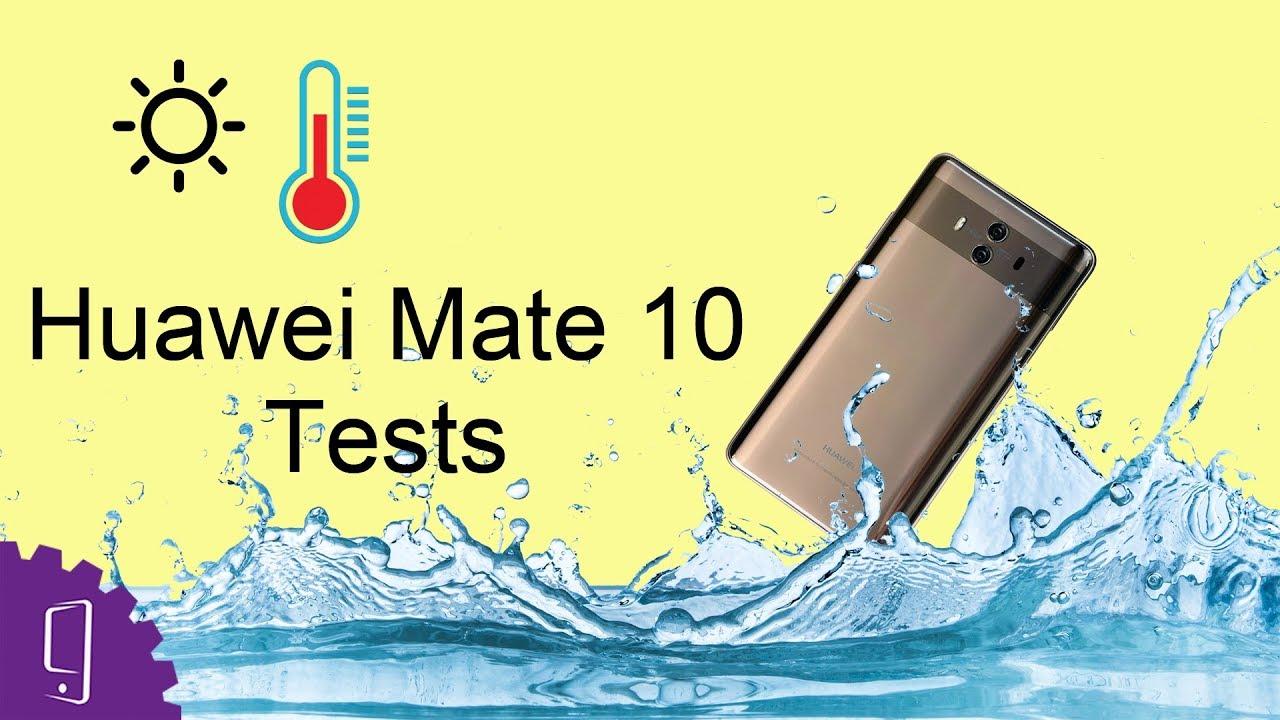 wholesale dealer c1da4 31cae Huawei Mate 10 Heating & Waterproof Test