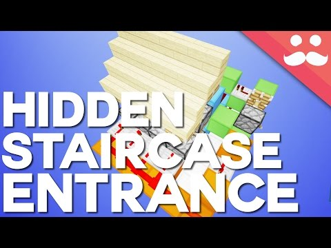 Minecraft: Expandable Secret Staircase [Day 14!]