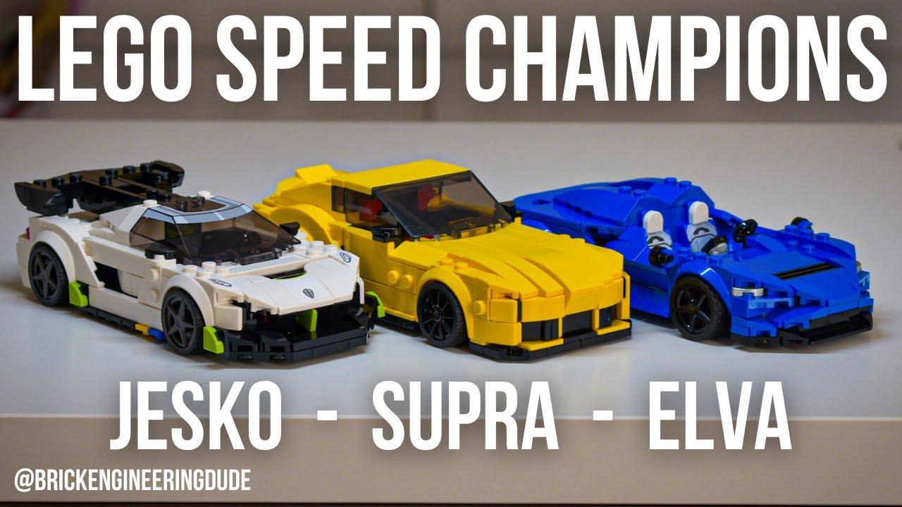 Here's what I think of the Lego Speed Champions Toyota Supra, Koenigsegg Jesko, and Mclaren Elva