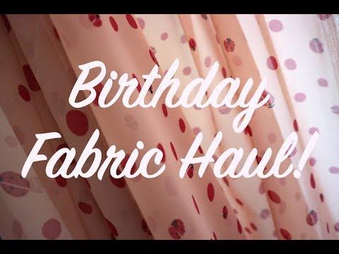 Birthday Fabric Haul- Adam Ross Fabrics