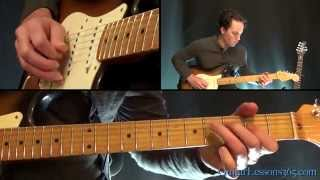 Us and Them Guitar Lesson Pt.2 - Pink Floyd - w/First Sax Solo