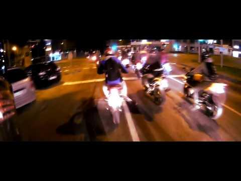 Šiaulių Naktys 2k17 Night Ride l Burnout l Wheelies l Police l Yamaha aerox l Yamaha yzf