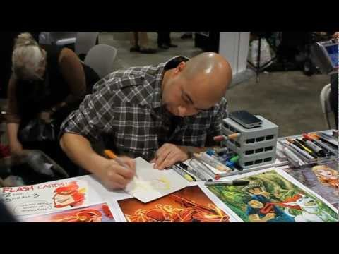 Comikaze 2011 Brian Buccellato Draws Wonder Girl - YouTube